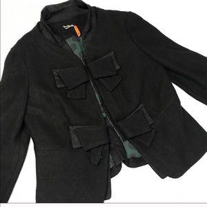 Anthropology Taikonku black wool blend bow jacket